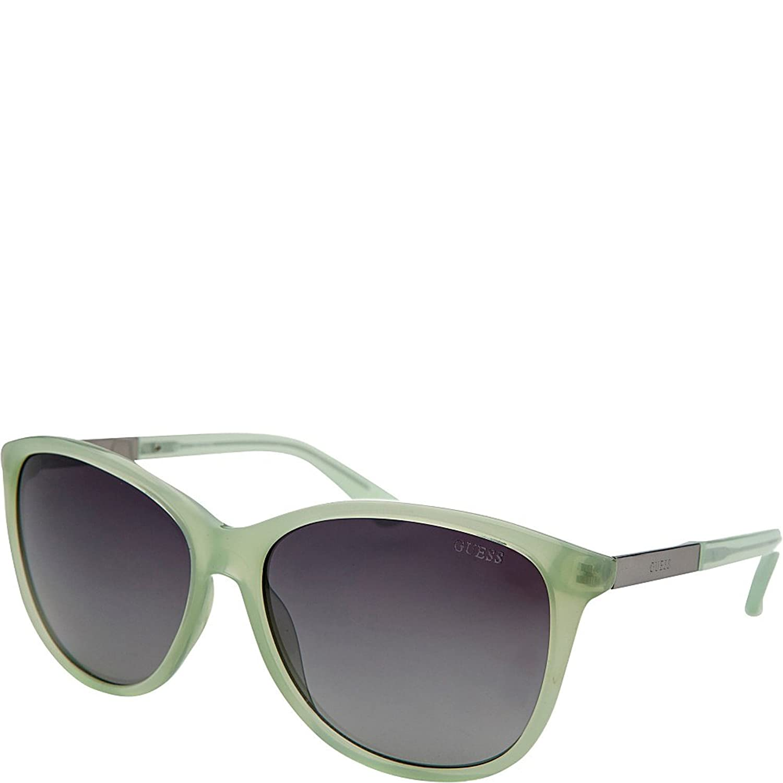GUESS Eyewear Square Sunglasses (Green)