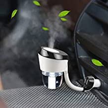 YJY 2-Hours 50mL Aromatherapy Essential Oil Diffuser Humidifier for Car with USB Port Hub, Silent Ultrasonic Waterless Auto Shut-off Air Humidifier Purifier Oxygen Therapy (Black)