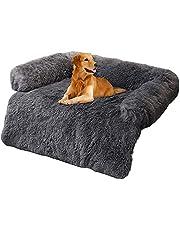 Hondenbed, bank voor bankbescherming, bescherming van hond en kofferbak, pluizige hondendeken, hondendeken, huisdier, superzacht, warm en zacht, pluizig fleece, voor hondenbed, bank en bank, grijs, maat L