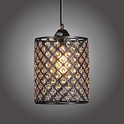 MonaLisa Gallery Antique Black Crystal Chandeliers Ceilling Pendant Light Fixture SML-178-B W7xH11