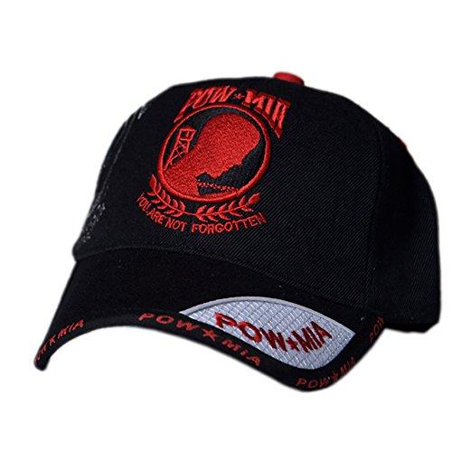 US HONOR TM Embroidered Shadow Pow/MIA Red Logo Baseball Caps Hats -