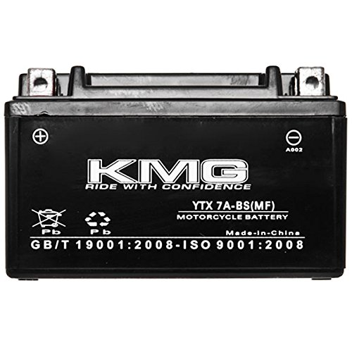 KMG Kymco 200 People S 200 2010-2011 YTX7A-BS Sealed Maintenace Free Battery High Performance 12V SMF OEM Replacement Maintenance Free Powersport Motorcycle ATV Scooter Snowmobile KMG