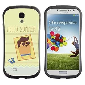 Suave TPU GEL Carcasa Funda Silicona Blando Estuche Caso de protección (para) Samsung Galaxy S4 I9500 / CECELL Phone case / / Sun Beach Tan Seaside Cool /