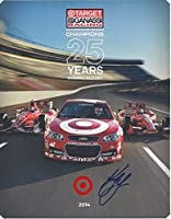 AUTOGRAPHED 2014 Kyle Larson #42 Target Racing INDY CAR SERIES CHAMPIONS (25 Years of Winning History) Signed 7X9 NASCAR Hero Card with COA from Trackside Autographs