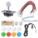 XCSOURCE Zero Delay Arcade DIY Kit Parts USB Encoder To PC Joystick 5Pin Rocker + 10pcs White Push Buttons AC783