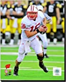 Wisconsin Badgers Scott Tolzien 2010 Action 20x24 Stretched Canvas