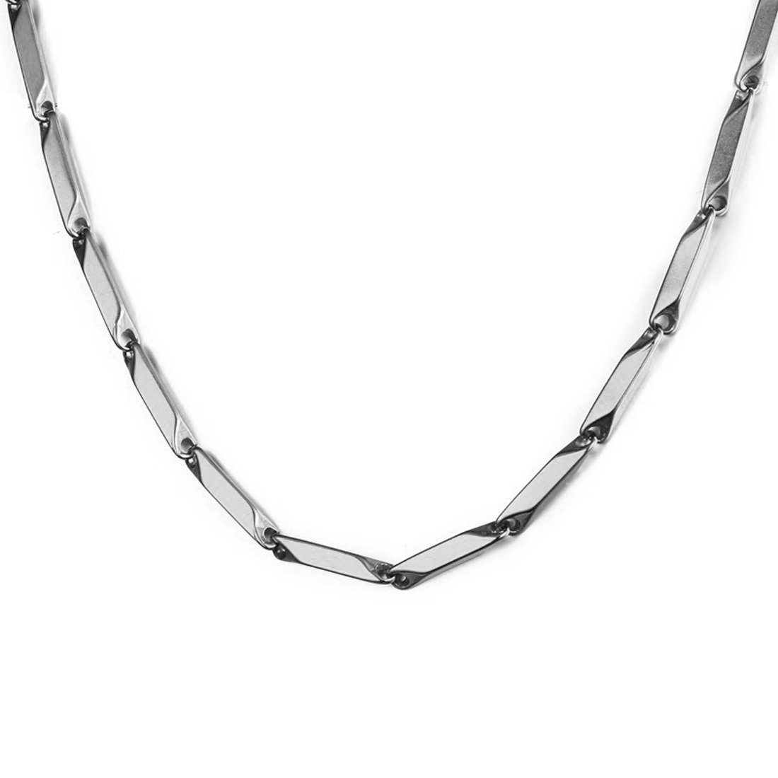 Nakabh Stainless Steel Rice Chain for Men and Boys