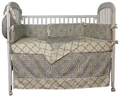 Hoohobbers Burst Sterling 4 Piece Crib Bedding Set from Hoohobbers