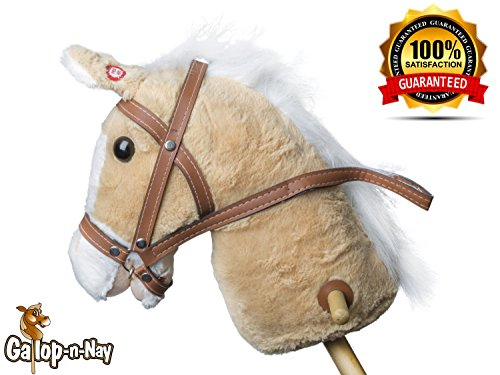 Riding Horse Wood Stick Light Tan (Ride A Unicorn Costume)