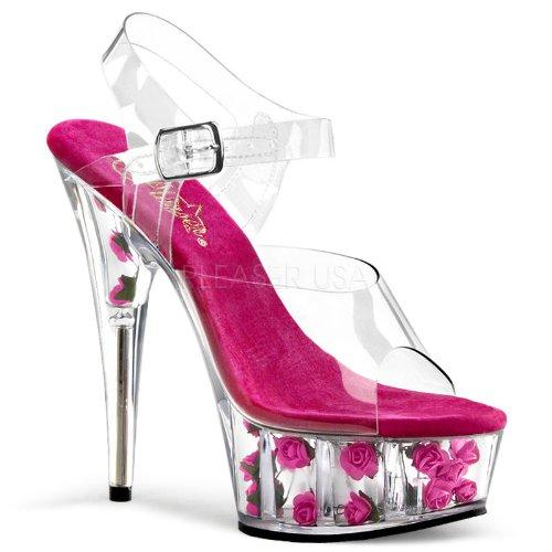 11 Sandal Hæl 6 Rosa 1 Pink Pleaser 11 Clr 3 3 Flowers Clr 4 Pf Ankle Strap h Blomster 4 Pf 1 6 H Forstropp Sandal Heel Pleaser 8SSwdqO