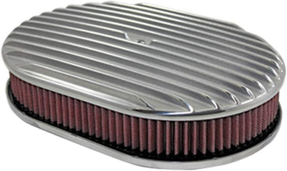 """12/"""" Oval Washable Element Air Filter Pre-Oiled Red 2/"""" Tall"""