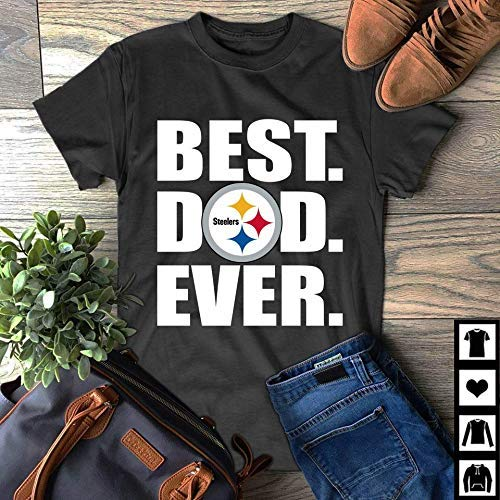 54e73f0f Amazon.com: Best dad ever Pittsburgh Steelers father day t shirt: Handmade