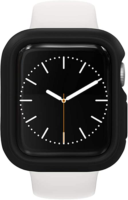 RhinoShield Bumper Case Compatible with Apple Watch SE & Series 6/5 / 4 - [40mm] | Slim Protective Cover, Lightweight and Shock Absorbent - Black