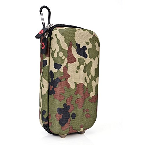Vape & Mod Portable Travel Case Compatible with Kangertech E smart 394 |Semi-hard Protective Shell with Standing Capability & Carabiner Hook for Easy Attachment|Green Camo & Pink Camo