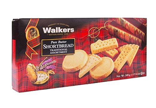 Walkers Shortbread Pure Butter Traditional Assortment, Traditional Butter Shortbread Cookies, 17.6 Ounce Box