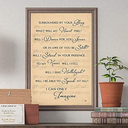 I Can Only Imagine Tree And Birds Lyrics Song Poster Gift Jesus Lovers Christian Poster Customized Poster Size Width x Height (Inch x Inch) 12 x 18 -