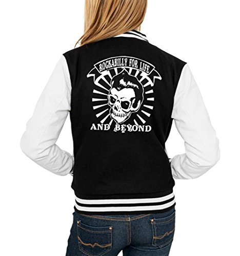 Rockabilly College Vest Girls Black Certified Freak