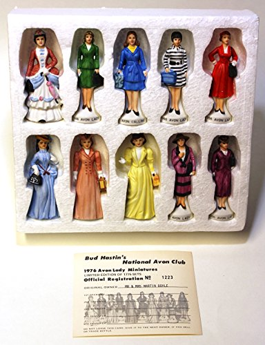 1976 Avon Lady Miniatures Limited Edition Set of 10