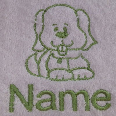 EFY Face Cloth, Hand Towel, Bath Towel or Bath Sheet Personalised with DOG logo and name of your choice (Face Cloth 30x30cm)