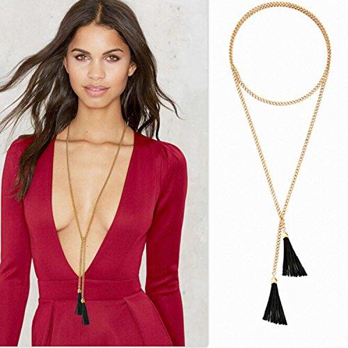Bridalvenus Necklaces Vintage Leather Fringes