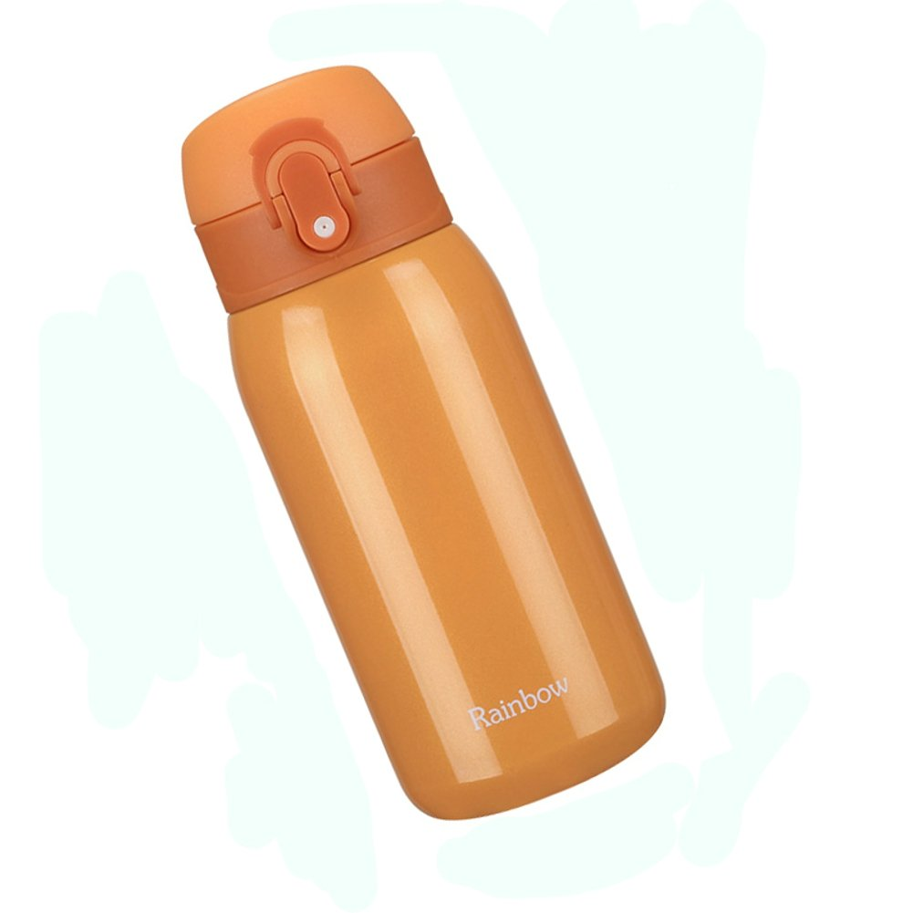 OVOV 11 Ounce Stainless Steel Vacuum Flask Portable Thermoses Water Cup Orange
