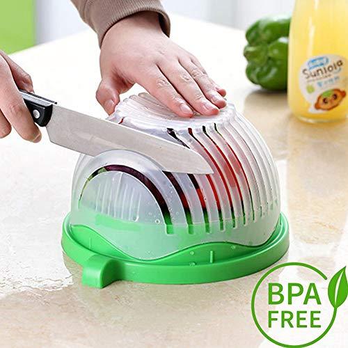 Beymill Salad Cutter Bowl Fast Finish Salad Maker, FDA Approved Salad Chopper Bowl,Health Salad Fruit Vegetable Slicer for Family