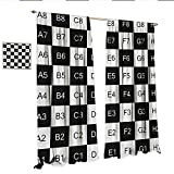 excellent patio tile design ideas WinfreyDecor Checkers Game Decor Curtains by Monochrome Chess Board Design with Tile Coordinates Mosaic Square Pattern Patterned Drape for Glass Door W108 x L84 Black White.jpg