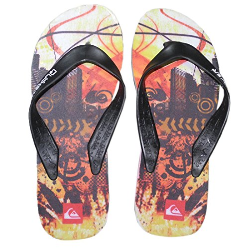 Beach Multicolor Sandals Flop Quiksilver Thongs Slippers Flip Mens Rubber WCfwZPHq