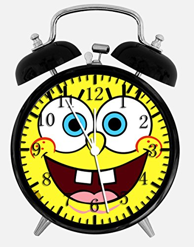 "Spongebob Squarepants Alarm Desk Clock 3.75"" Home or Office Decor W129 Nice For Gift"