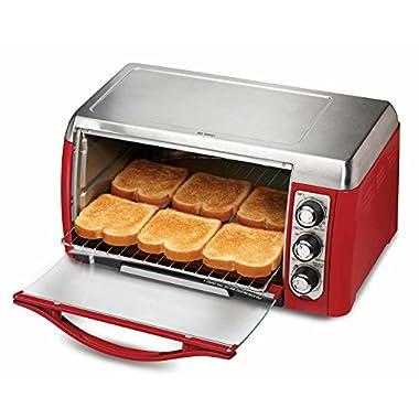 Hamilton Beach 31335 Ensemble 6-Slice Toaster Oven, Red