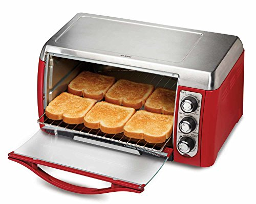 Hamilton Beach 31335 Ensemble 6-Slice Toaster Oven, Red (Small Toaster Oven Red compare prices)