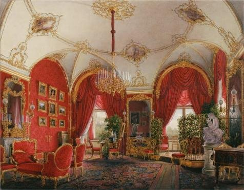 Oil Painting 'Hau Edward Petrovich,The Fourth Reserved Apartment,The Corner Room 02,1807-1887' 24 x 31 inch / 61 x 78 cm , on High Definition HD canvas prints, Basement, Bed Room And Nursery decor