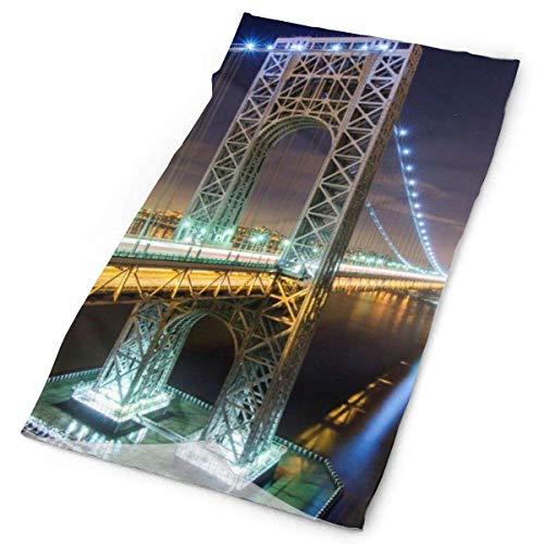 LUCIME Beautiful Bridge New York City Headband Bandana£¬Outdoor Multifunctional Headwear,Magic Scarf for Men Women 19.7x9.85(inch)/50x25(cm)