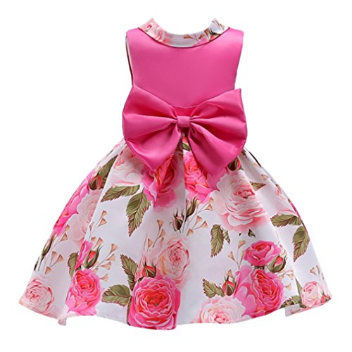 UNI Angel Little Girls Summer Flower Bowknot Party Pageant Dress Sleeveless Wedding Prom Dresses Party Angel Dress