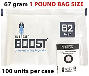 67 gram Humidity 2 way regulator 1 POUND BAG SIZE 100 pack