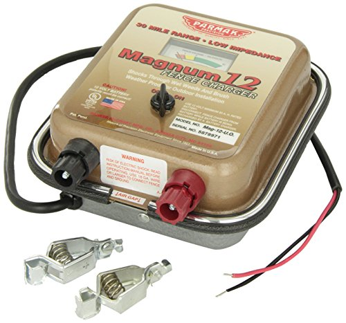 Low Impedance Parmak MAG12UO Electric Fence Charger 30-Mile 12-Volt Battery