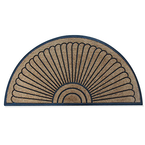 A1 Home Collections Handcrafted Sunburst Sturdy Well Made Double Doormat, Rubber and Coir, X-Large (36