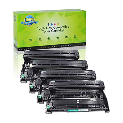 NineLeaf Compatible Drum Unit Replacement for Brother DR630 DR-630 HL-L2315DW HL-L2380D MFC-L2685DW MFC-L2740DW Printer (4 Black), Up to 12,000 Page yld -  NineLeaf Tech, QNL-AMA004-DR630-4PK