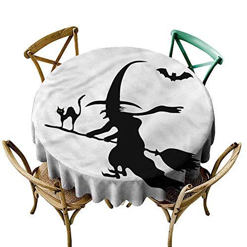 familytaste Witch,Wholesale tablecloths Monochrome Halloween Symbol D 54