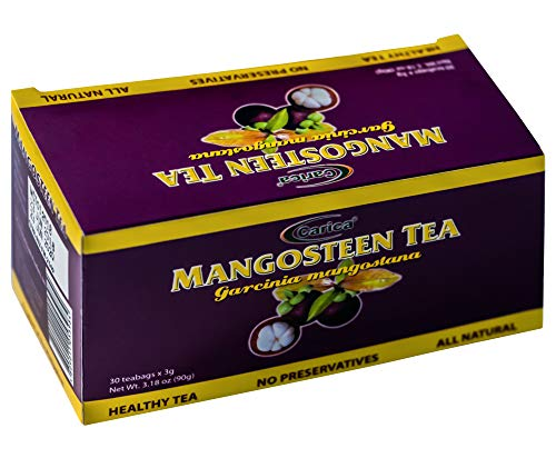 Mangosteen Herbal Tea - Pack of 30 Xanthones Tea Bags - 100% Natural, No Preservatives, The Richest Nutrient & Antioxidant Superfood