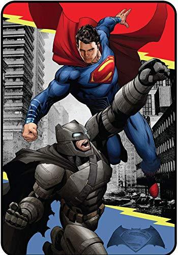 Warner Bros. Batman Vs Superman Heroes Dual Blanket, 62
