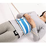 Bed Restraints Belt Vest Patient Hospital Limb Holders Care Roll Straps for Body Suitable for Waist 36~42 Inches (Blue)