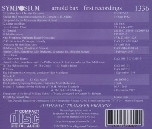 Arnold Bax: First Orchestral Recordings 1925-1949