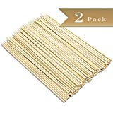 2 Packs - TrueCraftware Classic Bamboo Skewers - 6 Inches - 200 Pieces
