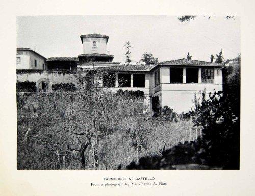 1907 Print Farmhouse Castello Venice Italy Architecture Style Charles Platt Home - Original Halftone Print