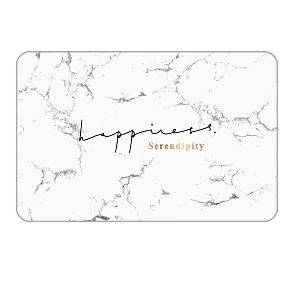 TOMSSL Serendipity White Pattern Natural Diatomaceous Earth Bath Mat Absorbent Water Quick-Drying Does Not Fade Furniture Versatile Brushed Surface Mat (Size : 3545)