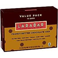 10-Count Larabar Gluten Free Bar 16 oz Peanut Butter Chocolate Chip