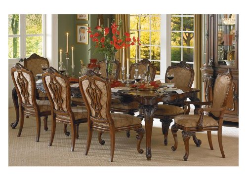 Cromwell Dining Table in Cherry By Homelegance