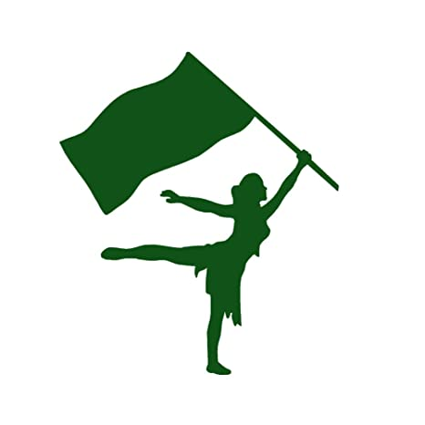 Amazon Color Guard Girl Vinyl Decal By Stickerdad Size 5