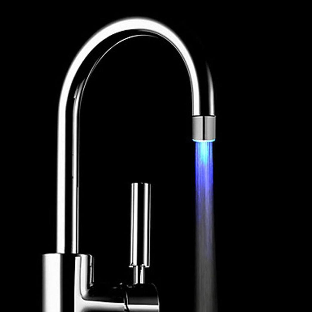 TWIFER Romantische 7 Farbwechsel LED-Licht Duschkopf Wasser Bad Home ...